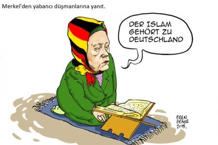 Merkel`den İslam karşıtlarına yanıt