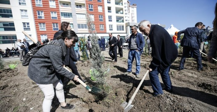 45 bin hükümlü 1 milyon fidanı toprakla buluşturdu