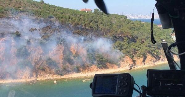 Balıkesir ile Burgazada'da orman yangını