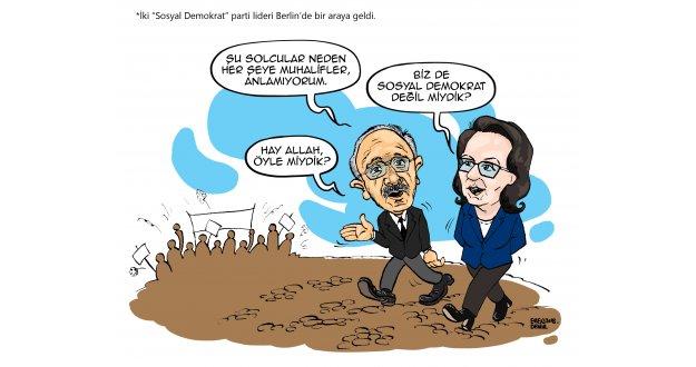 """İki """"Sosyal Demokrat"""" lider Berlin`de buluştu"""