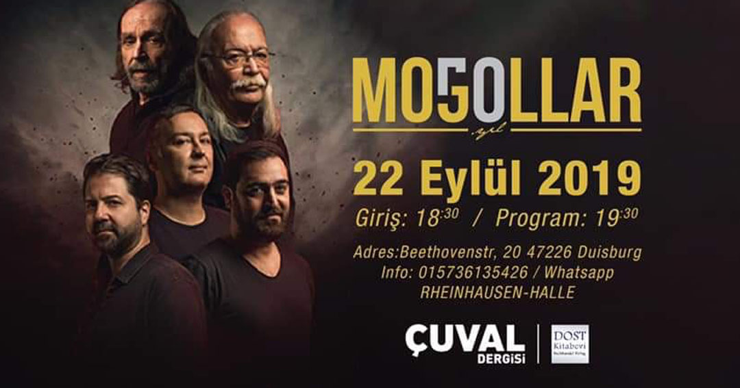 Moğollar Konser için Almanya'ya Duisburg' a geliyor