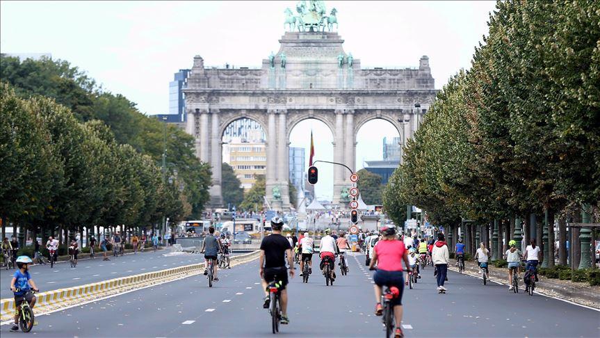 Brüksel'de 'Otomobilsiz Gün' etkinliği