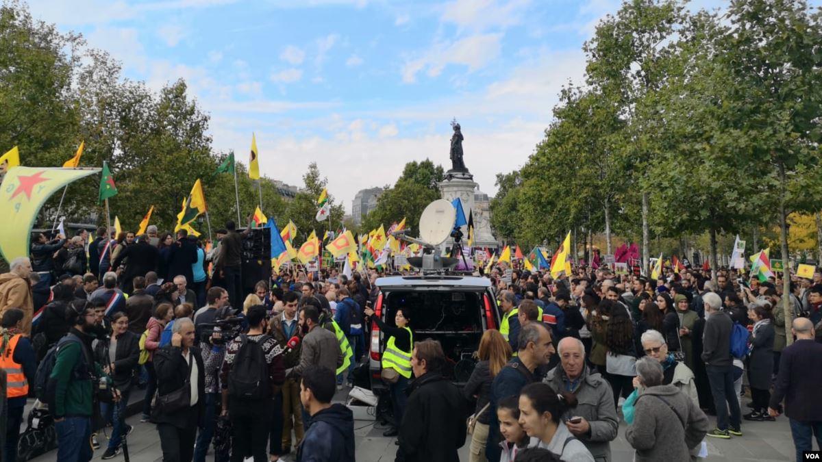 Avrupa'da Barış Pınarı Harekatı'nı Protesto Eylemleri