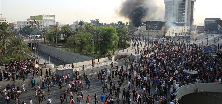 Bağdat'taki gösterilerde 3 ölü, 60 yaralı