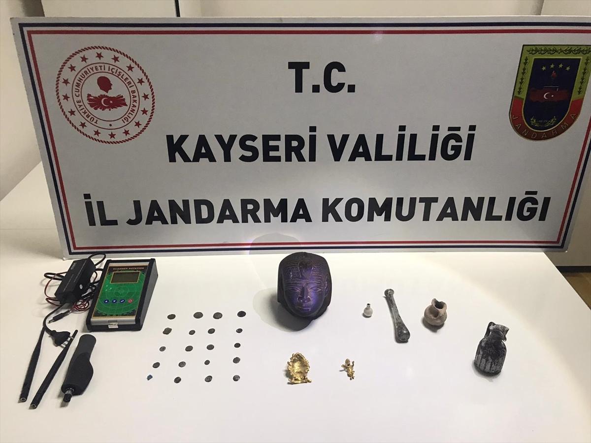 Kayseri'de tarihi eser kaçakçılığı operasyonu: 4 gözaltı