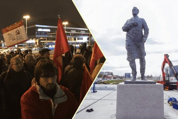 Hırvatistan'da Tudjman heykeline orak çekiç çizen genç yargılanıyor