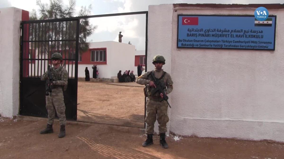 Türkiye'nin Tel Abyad'da Açtığı Okulda Ders Zili Çaldı