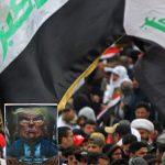Bağdat'ta Halk ABD Karşıtı Protesto İçin Sokakta