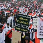Irak'ta ABD'nin askeri varlığına karşı milyonlar eylemde