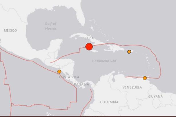 Küba ile Jamaika açıklarında 7,7 büyüklüğünde deprem