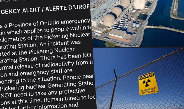 Kanada'da nükleer santralden 'yanlışlıkla' alarm verildi
