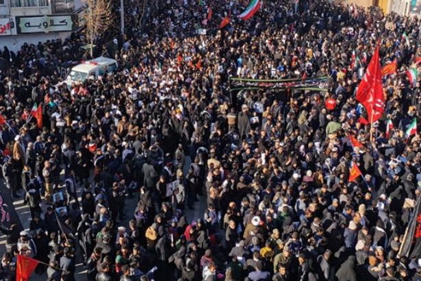 Süleymani'nin cenaze töreninde izdiham: 35 ölü var