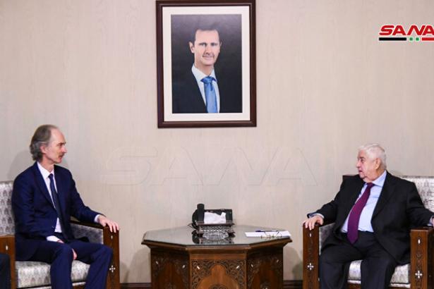 Suriye Dışişleri Bakanı Muallim, BM Temsilcisi Pedersen ile görüştü