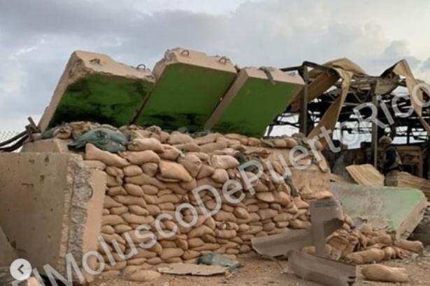 VİDEO I Irak'ta bombalanan ABD üssünün görüntüleri ortaya çıktı