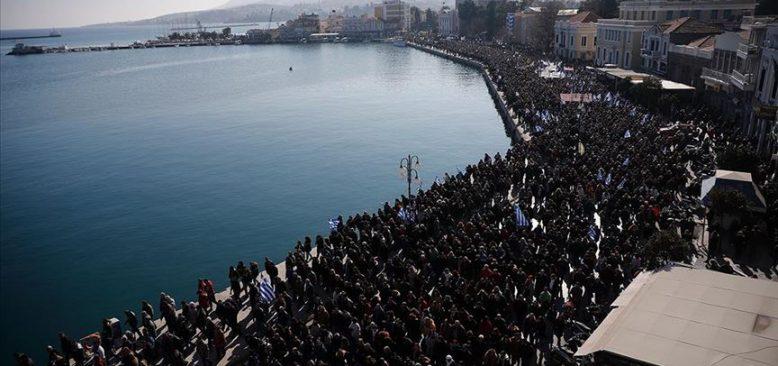 Yunan adalarında 'göçmen krizi' grevi