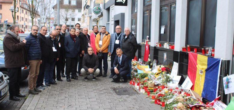 KGK heyeti Hanau'da acıları paylaştı