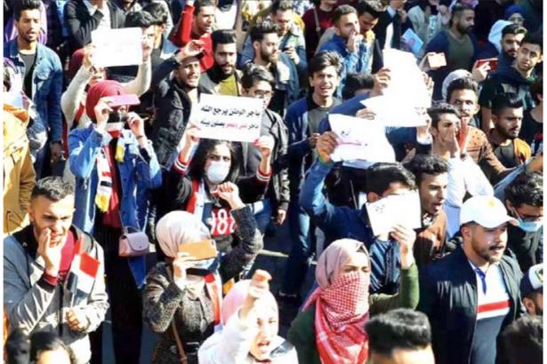 Irak'ta oturma eylemleri Kovid-19 tehlikesine rağmen devam ediyor