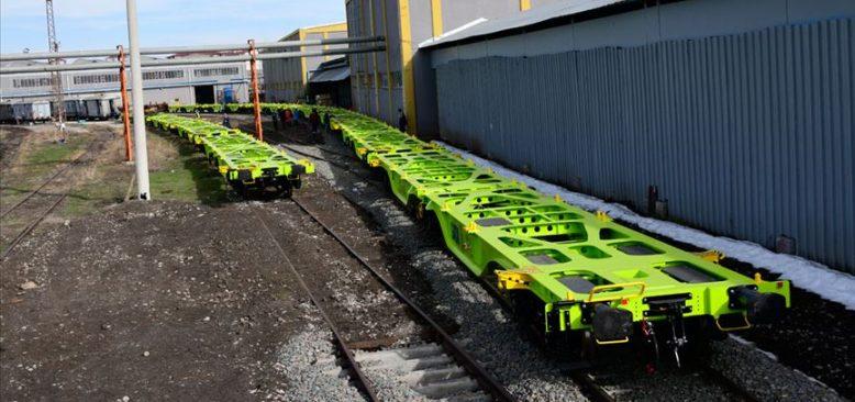 Sivas'ta üretilen yük vagonları Avusturya yolunda
