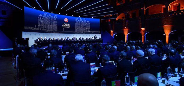 UEFA Kongresi Amsterdam'da yapıldı