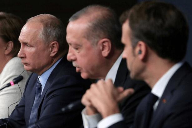 Macron'dan Putin ve Erdoğan'a: Dörtlü zirvedeki taahhütlerinizi yerine getirin