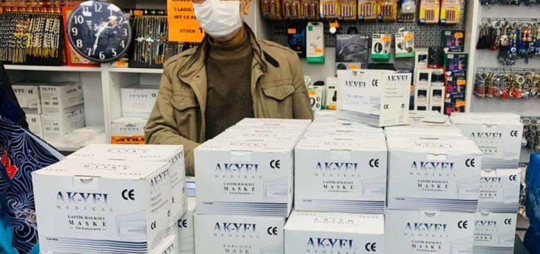Türk işadamı, Nürnberg şehir hastanesine maske bağışladı