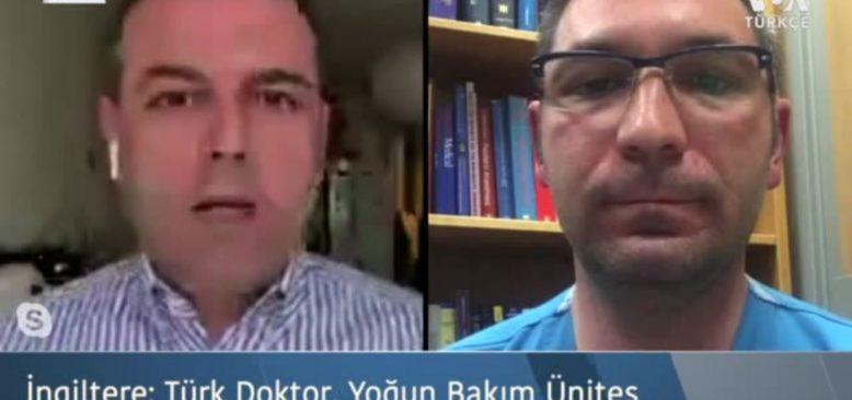 İngiltere'de Türk Doktor Corona Bakım Ünitesi Nöbetinde