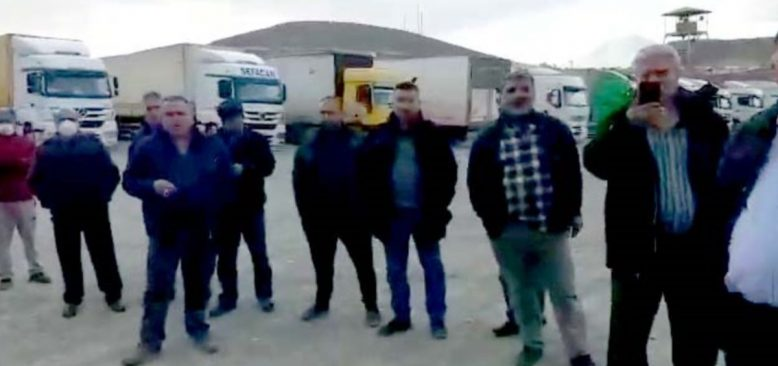 TIR Şoförleri İran Sınırında Mahsur Kaldı