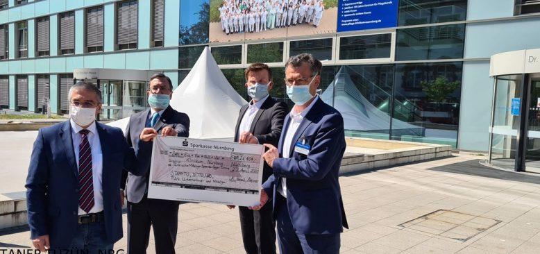 Türkler, Nürnberg Şehir hastanesine 21 bin 404 Euro bağış yaptı