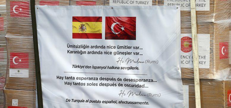 Türkiye'den, İspanya ve İtalya'ya tıbbi yardım