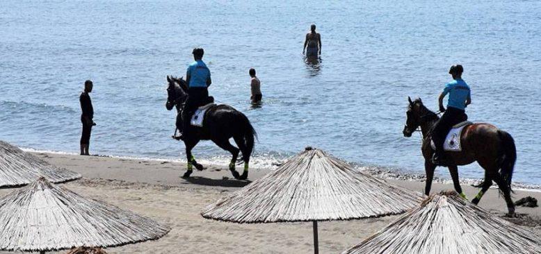 Muğla'nın ünlü plajlarında 'dört nala' güvenlik