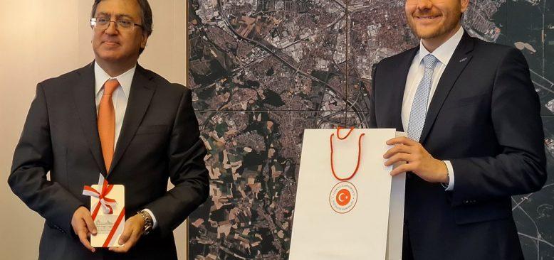 Başkonsolos Serdar Deniz'den Belediye Başkanına ziyaret