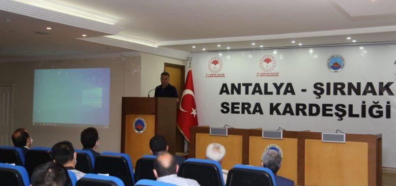 Antalya sera deneyimini Şırnak'a aktaracak