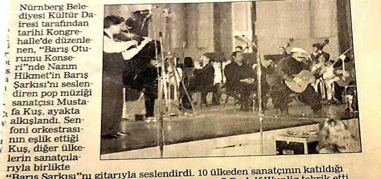 Nürnberg'in 950.yılında Türker, müzikleri ile alkışlanmışlardı