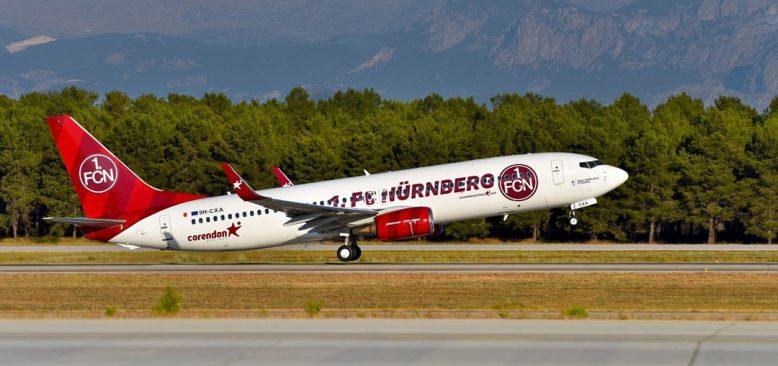 Corendon Ekimden itibaren Nürnberg'den en fazla uçuşu gerçekleştiren hava yolu olacak