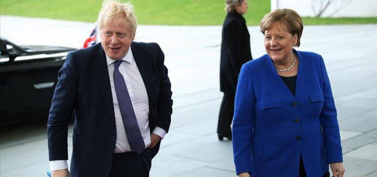 Johnson ve Merkel, Brexit sonrası ilişkiler ile Libya'yı görüştü