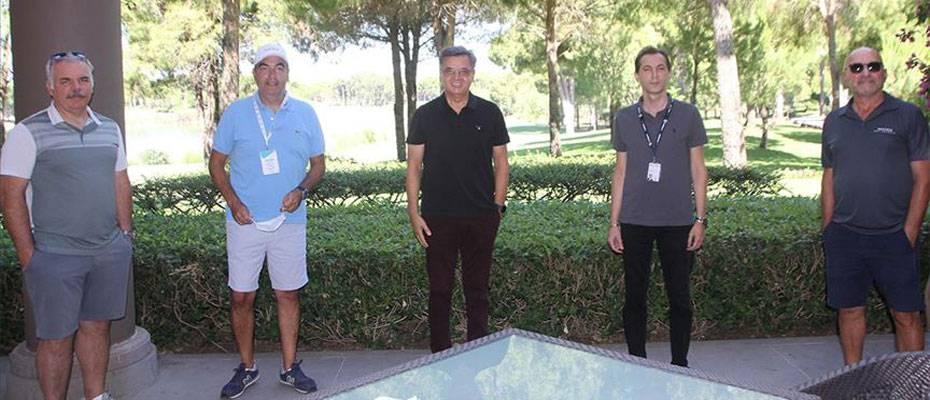 Alman turizm acenteleri temsilcileri Antalya'da golf sahalarını gezdi