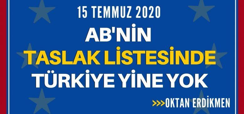 AB'nin taslak listesinde Türkiye yine yok