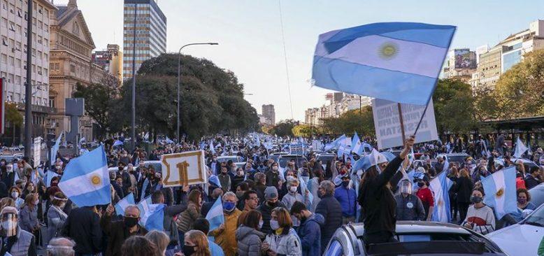 Arjantin'de hükümet karşıtı gösteriler