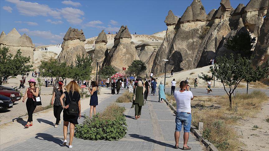 Kapadokya'yı 7 ayda 420 bin turist gezdi