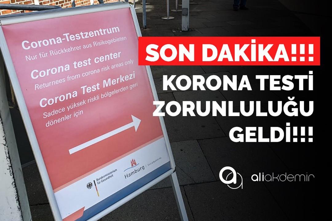 Türkiye`den gelirken negatif testiniz yoksa uçağa binemiyorsunuz