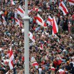 Minsk'te Binlerce Kişi Sokaklarda
