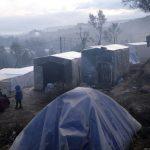 Yunanistan'ın Midilli Adası'ndaki Mülteci Kampında Yangın Çıktı