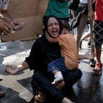 Midilli'de Kamp Yangını Sonrası Mültecilerin Protestosuna Polis Müdahalesi