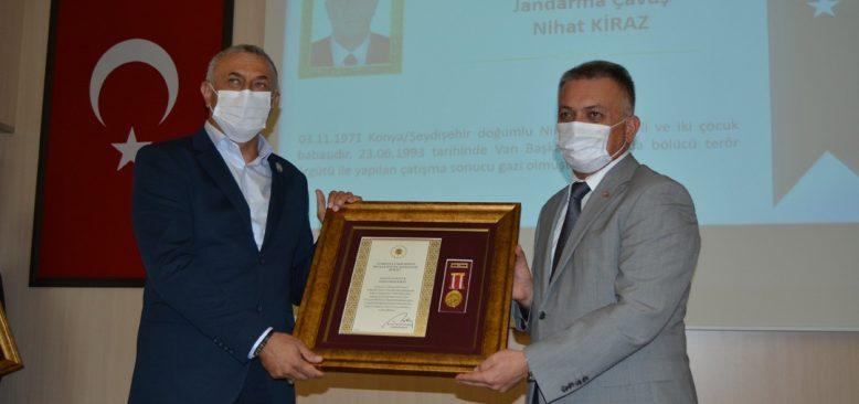 Gaziye 27 yıl sonra Devlet Övünç Madalyası verildi