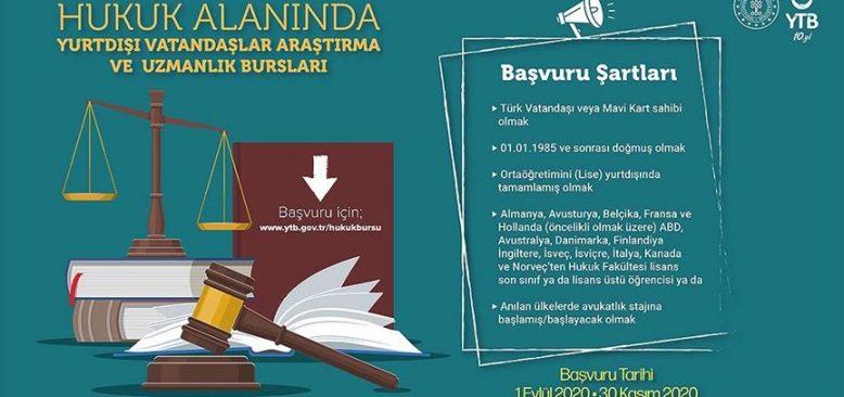 YTB yurt dışında yaşayan hukuk eğitimi alan gençlere burs verecek