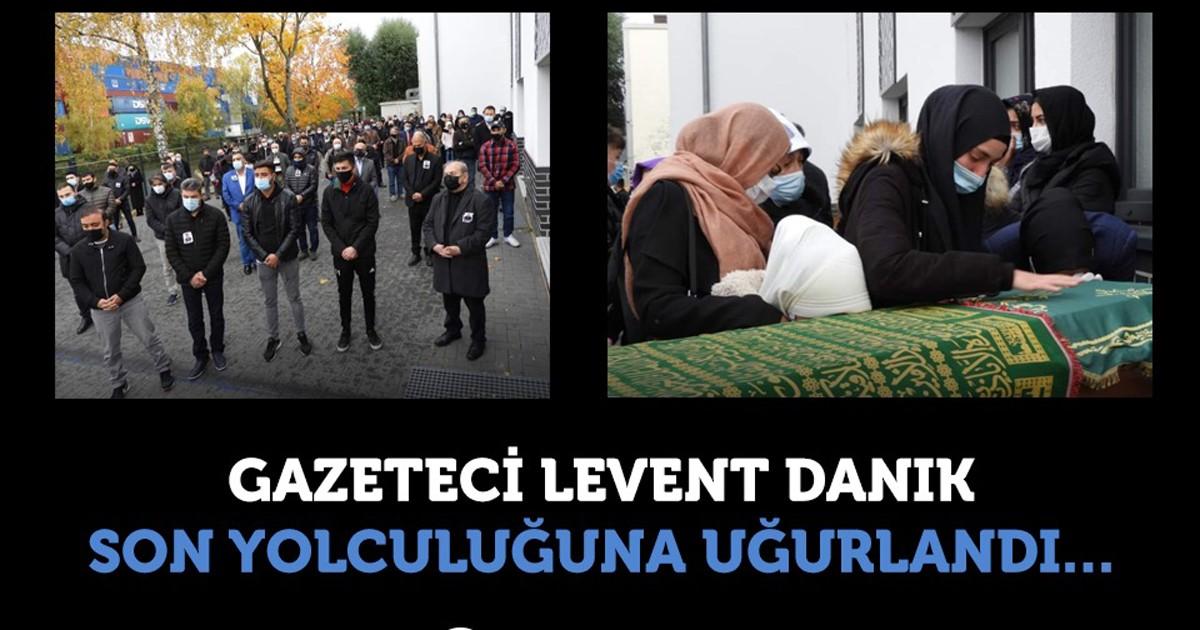 Genç gazeteci Levent Danık son yolculuğuna uğurlandı
