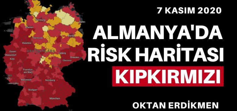 Almanya'da risk haritası kıpkırmızı