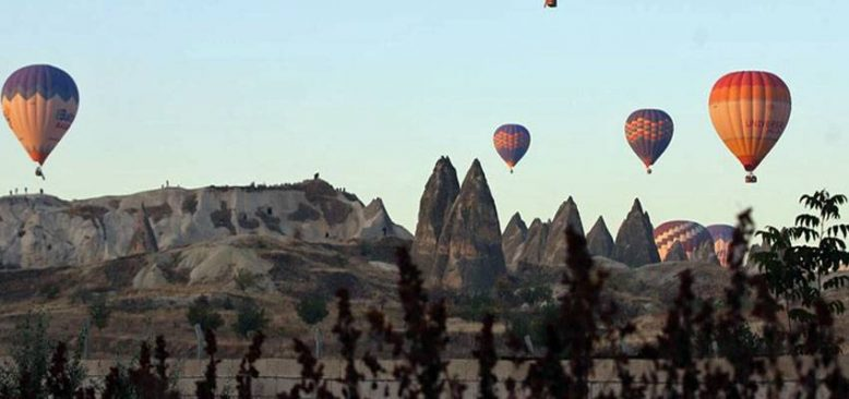Kapadokya'yı havadan izlemek heyecan verici