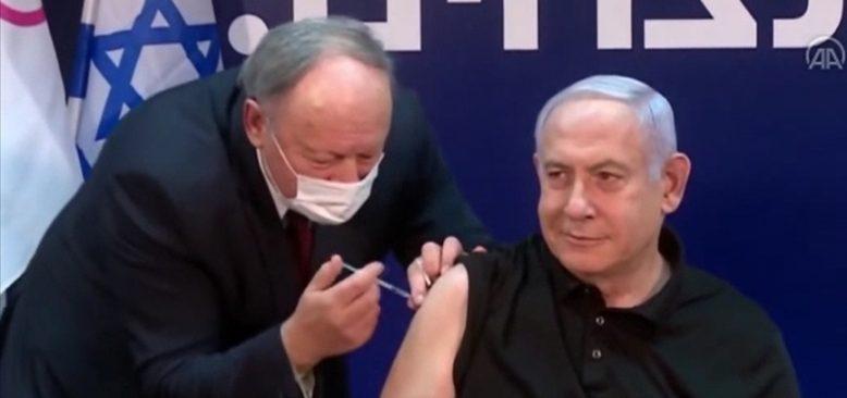 Canlı yayında Netanyahu'ya Kovid-19 aşısı yapıldı