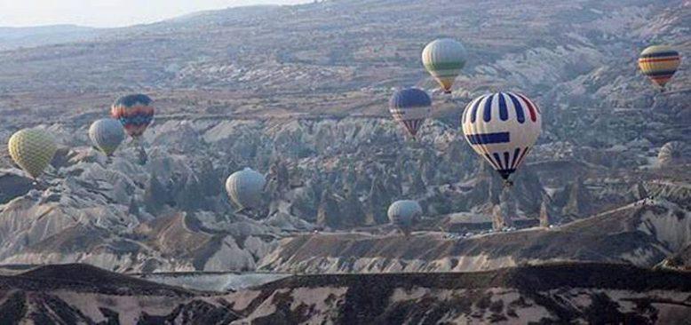 Kapadokya'daki turistik merkezlerde Kovid-19 sessizliği